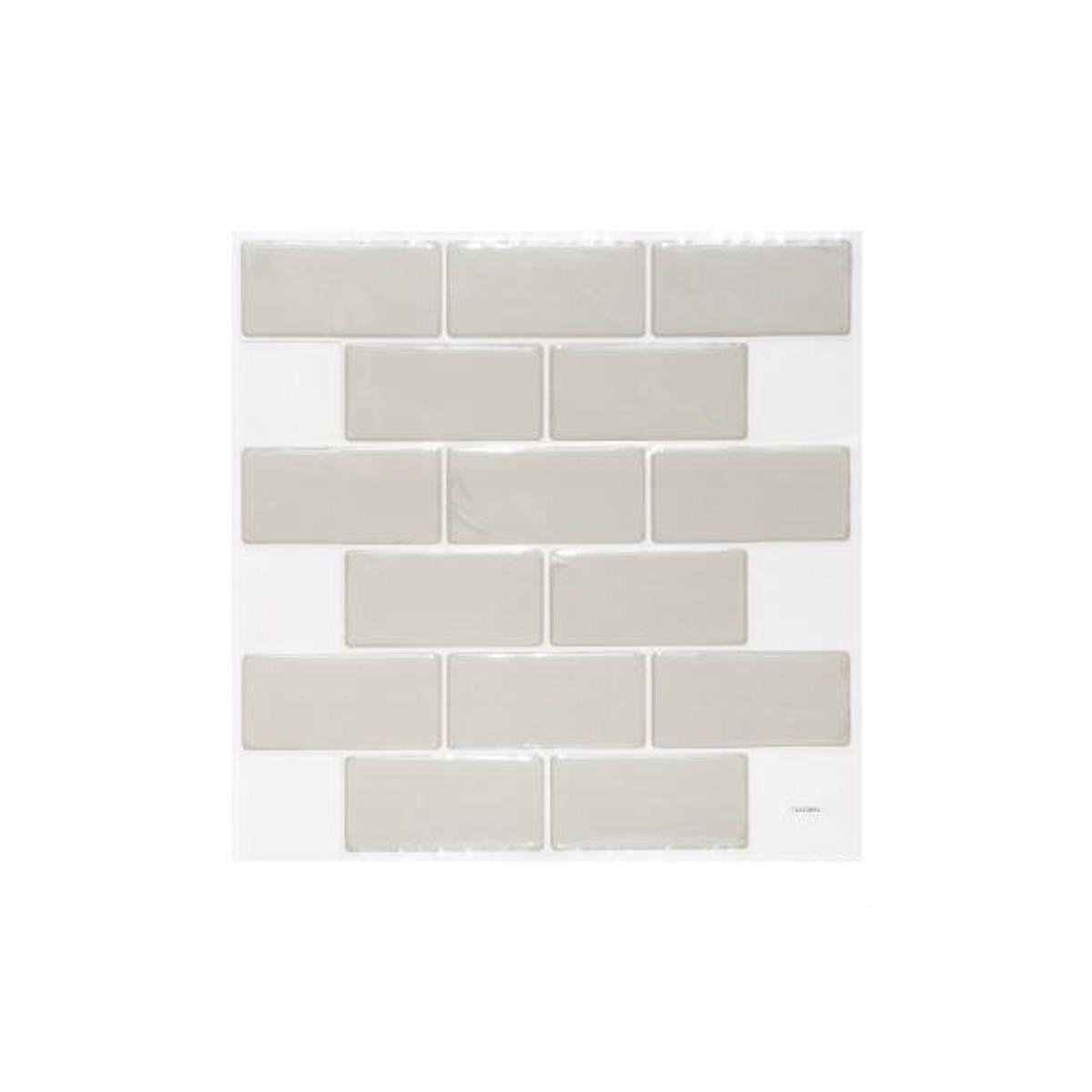 Sticker briques carrelage blanches