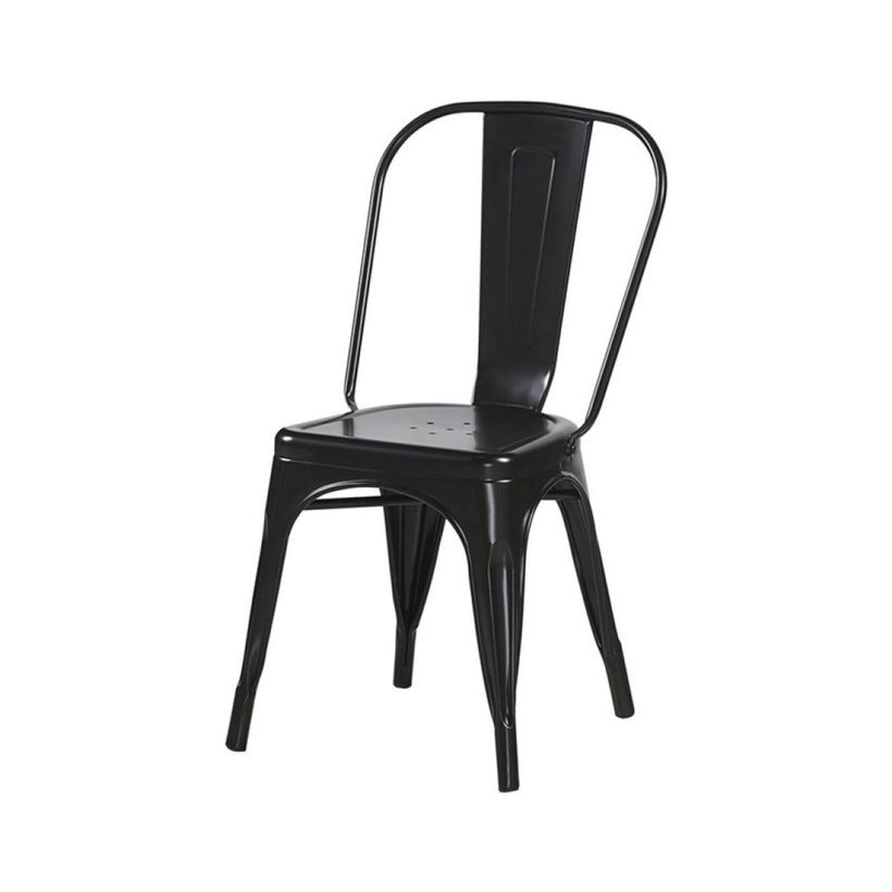 Chaise rétro noir mat