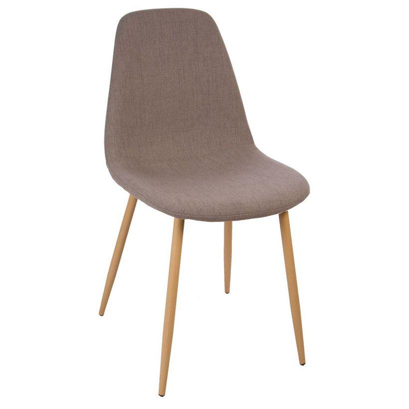 Chaise taupe scandinave Roka