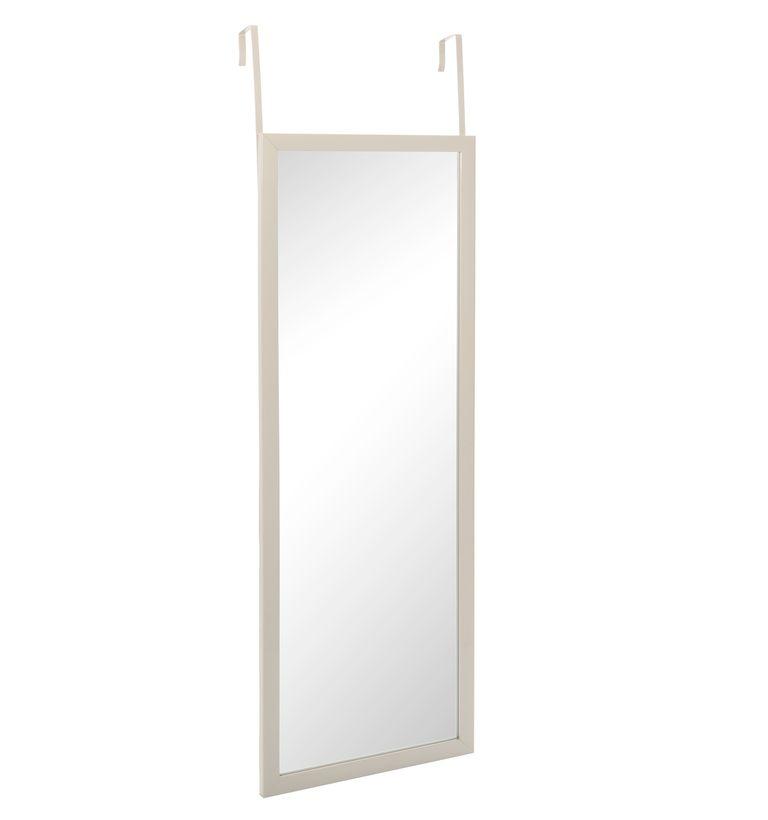 Miroir de porte blanc noir taupe