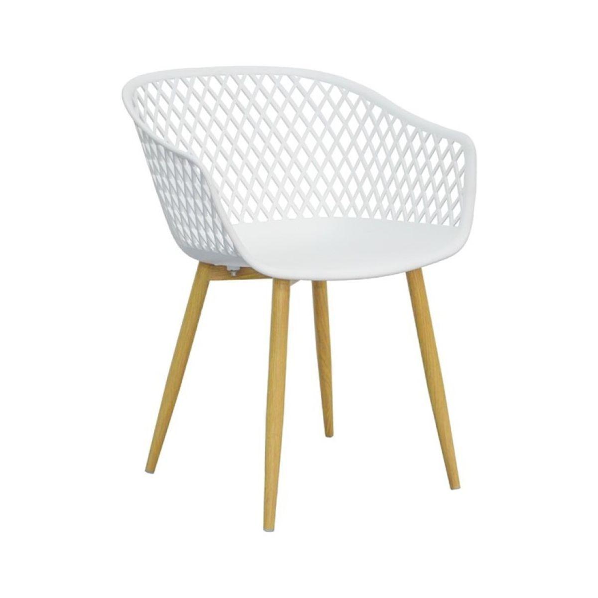 Fauteuil de table blanc scandinave Tango