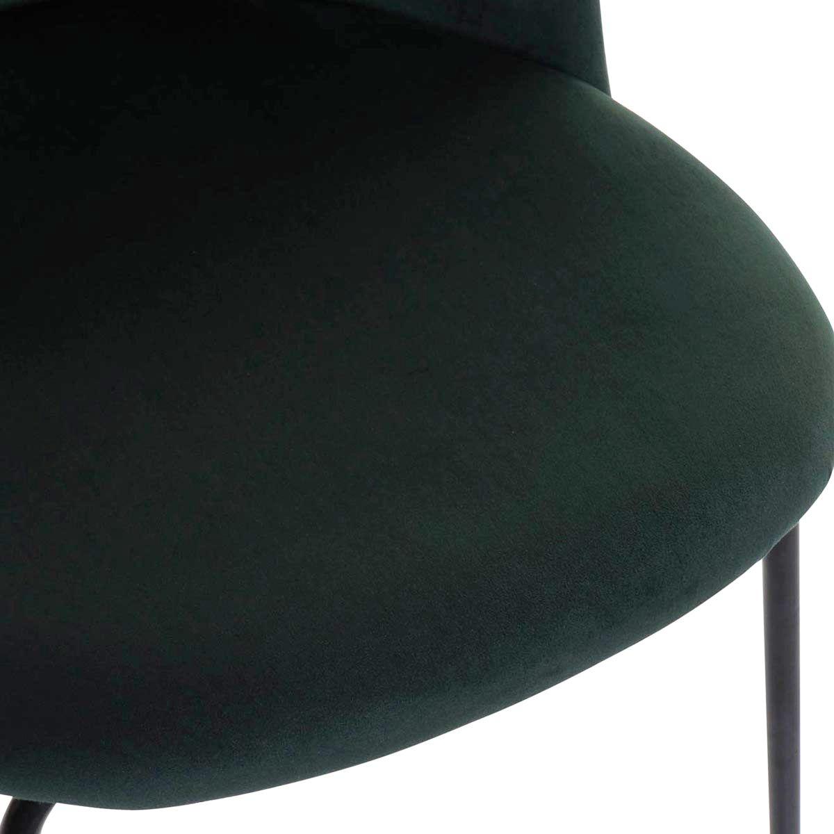Chaise en velours verte dos imprimé tropical