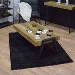 Tapis shaggy noir Softy 160x230 cm