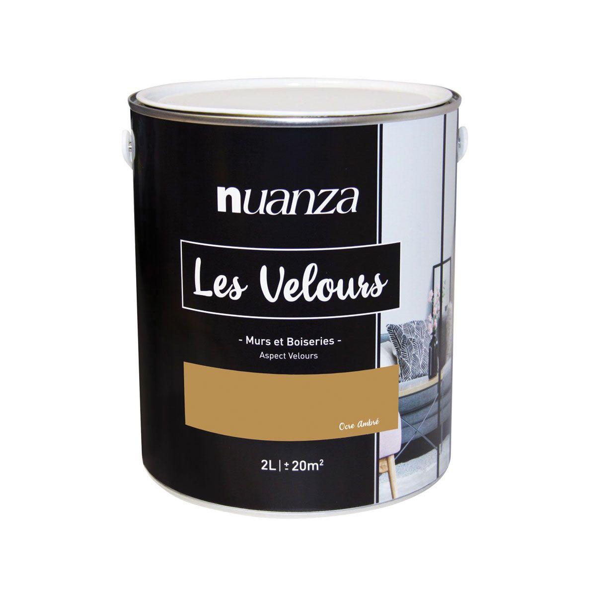 Peinture ocre ambré velours multi supports Nuanza
