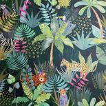 Papier peint jungle vert émeraude Outwoods duplex