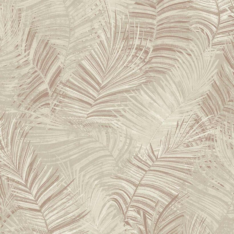 Papier peint vinyl intissé palme vanille Leyland