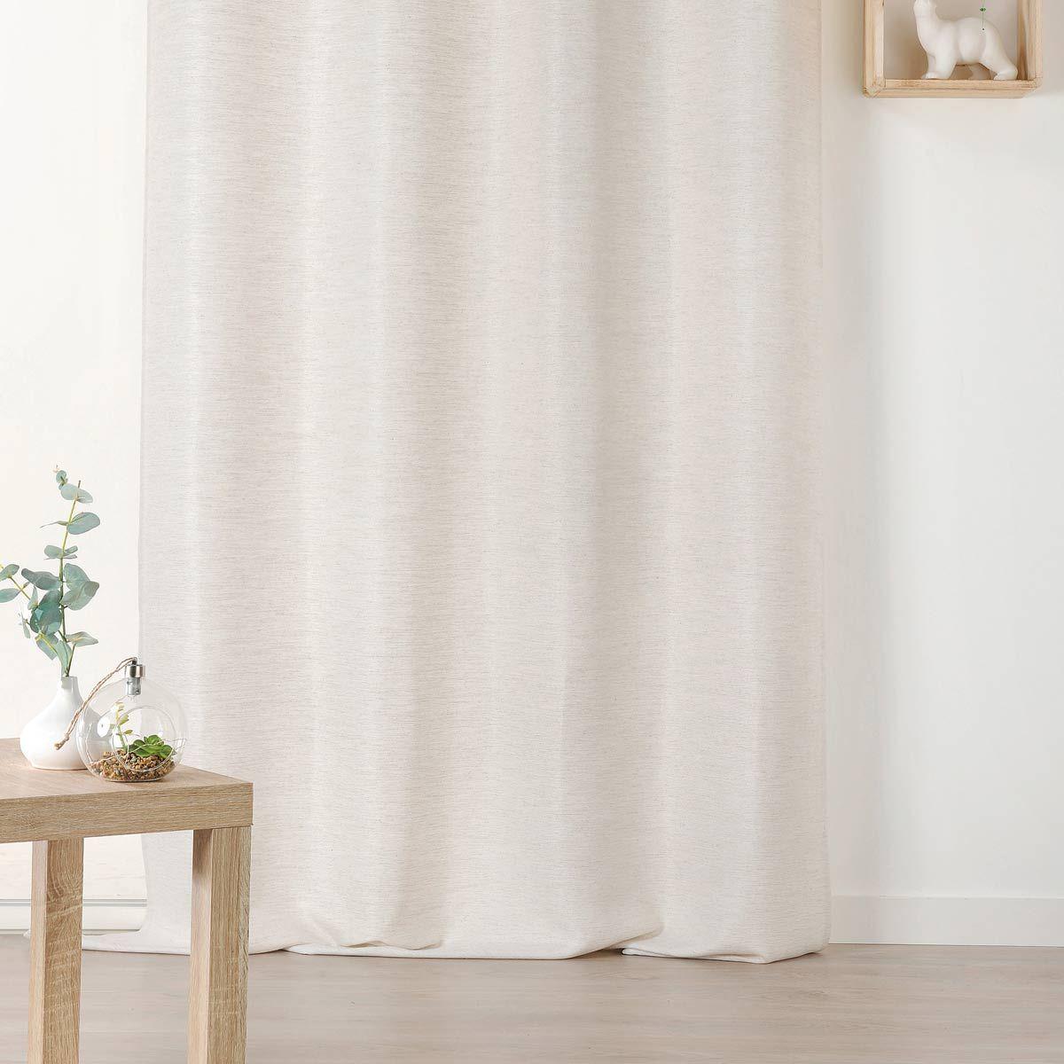 Rideau dépolluant beige chiné 135x240 cm