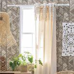 Tringle à rideau d.28 mm bois blanc Kobuk 150 cm