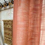 Voilage terracotta effet lin Caldera 135x260 cm