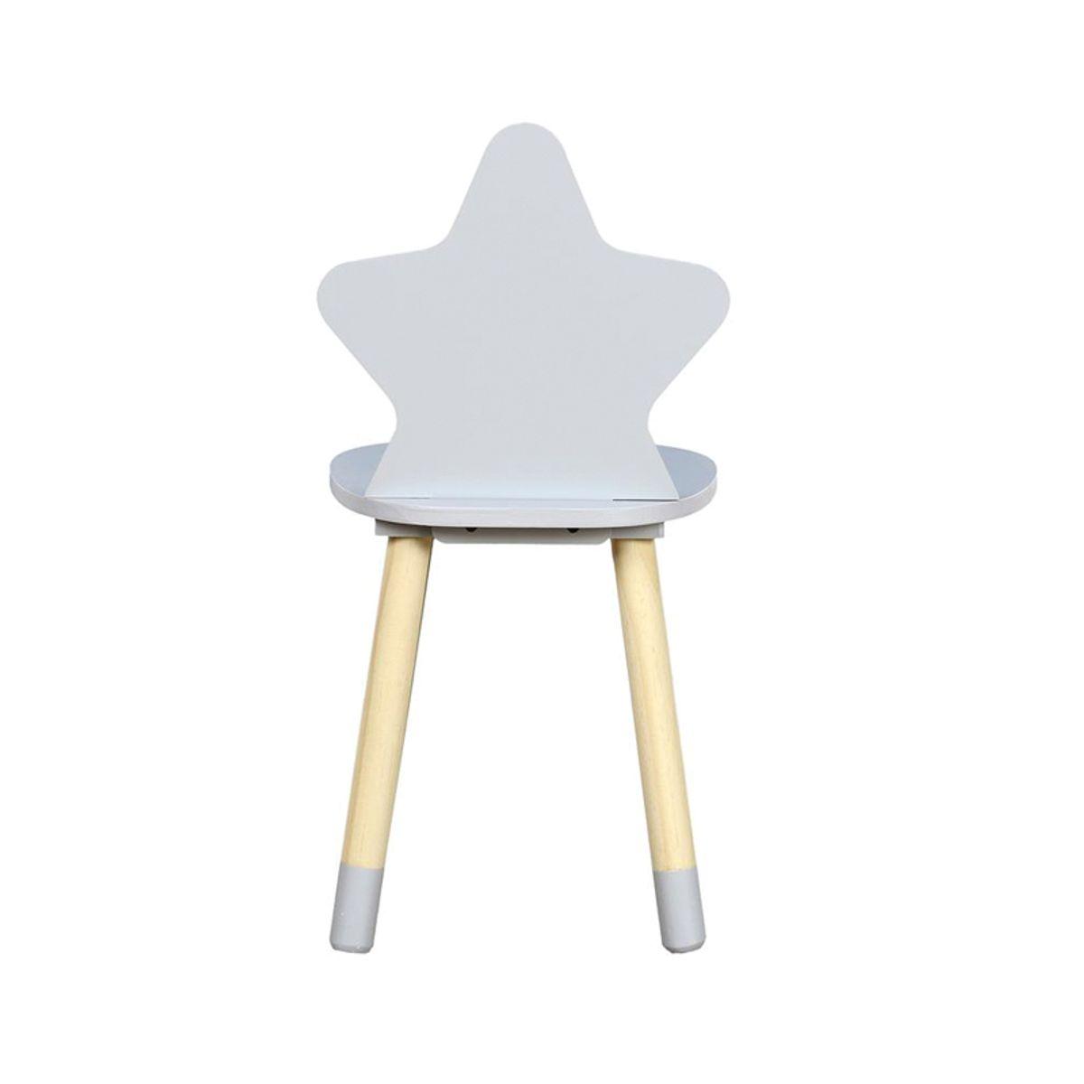 Chaise enfant étoile grise
