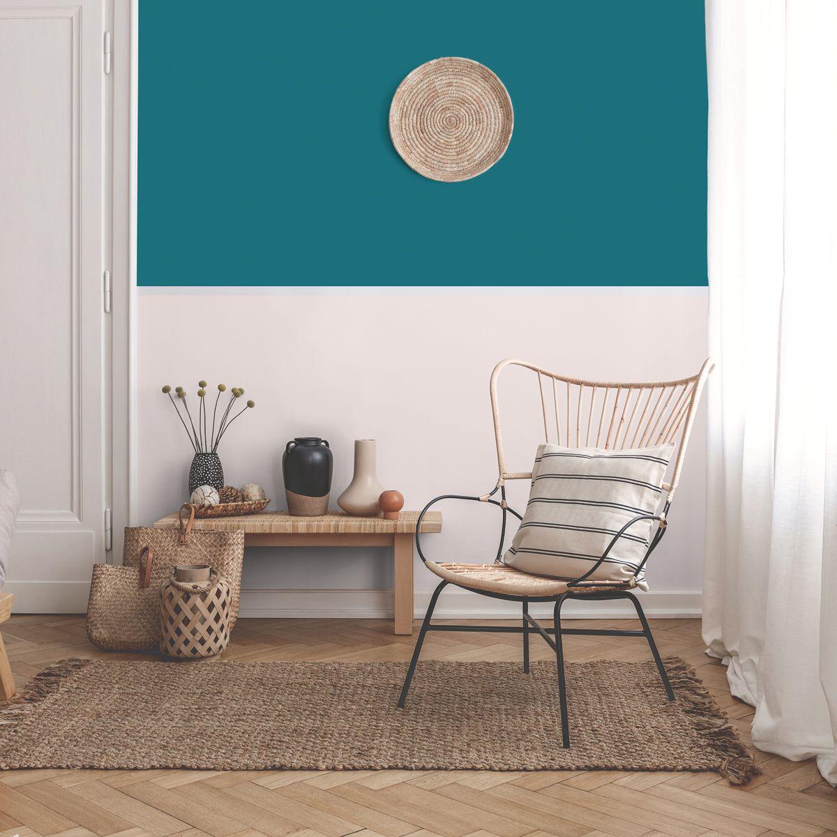 Peinture bleu pétrole satin 20 minutes chrono Renaulac