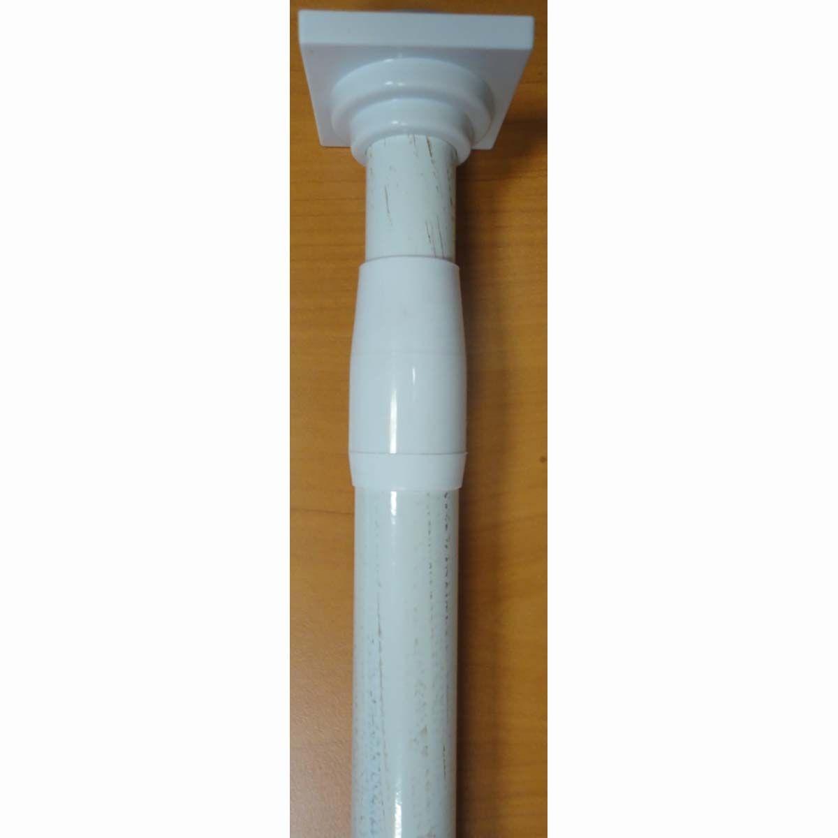 Tringle rideaux ext. sans percer blanc 135/250 cm