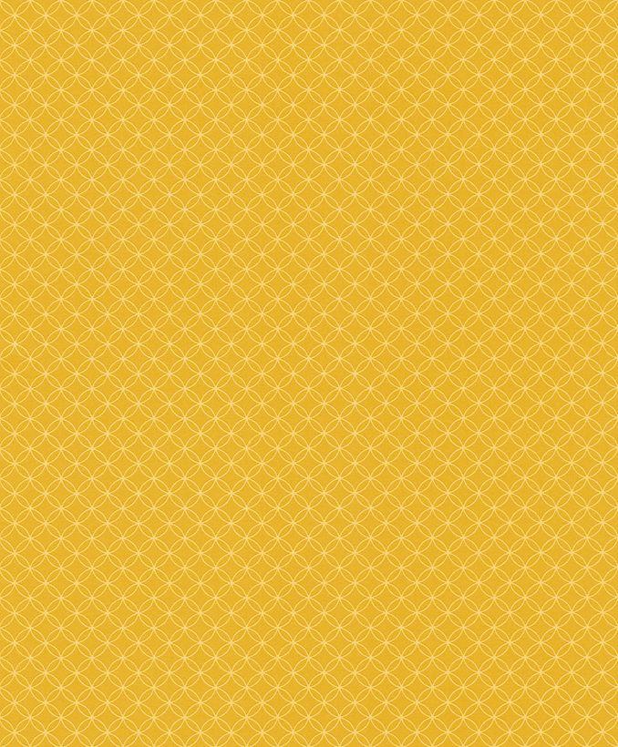 Papier peint scandinave moutarde Mayfair intissé