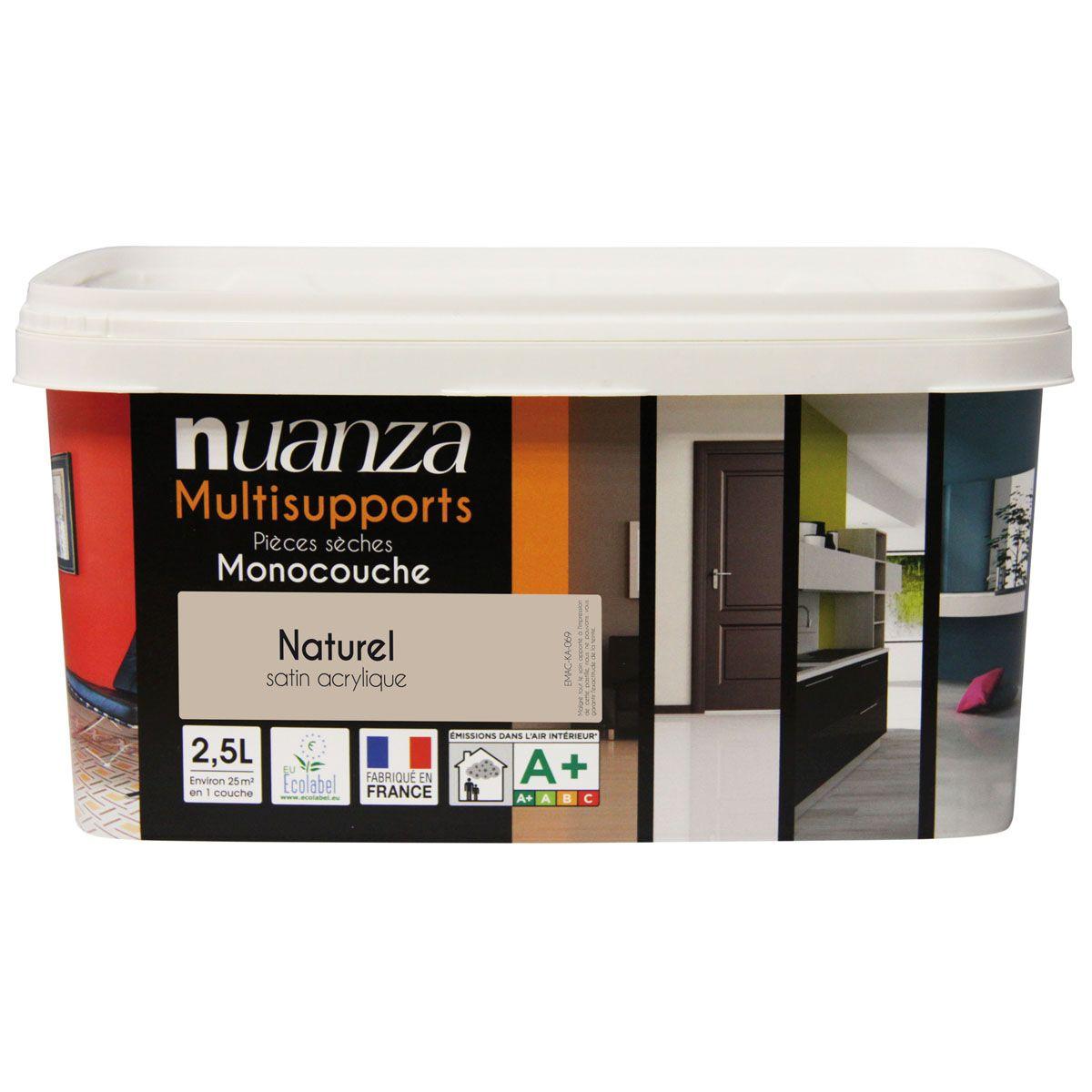 Peinture naturel satin multisupports Nuanza 2.5l