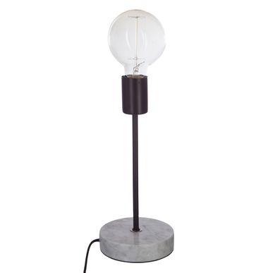 Lampe A Poser Marbre Noir Deco Caen Kalico