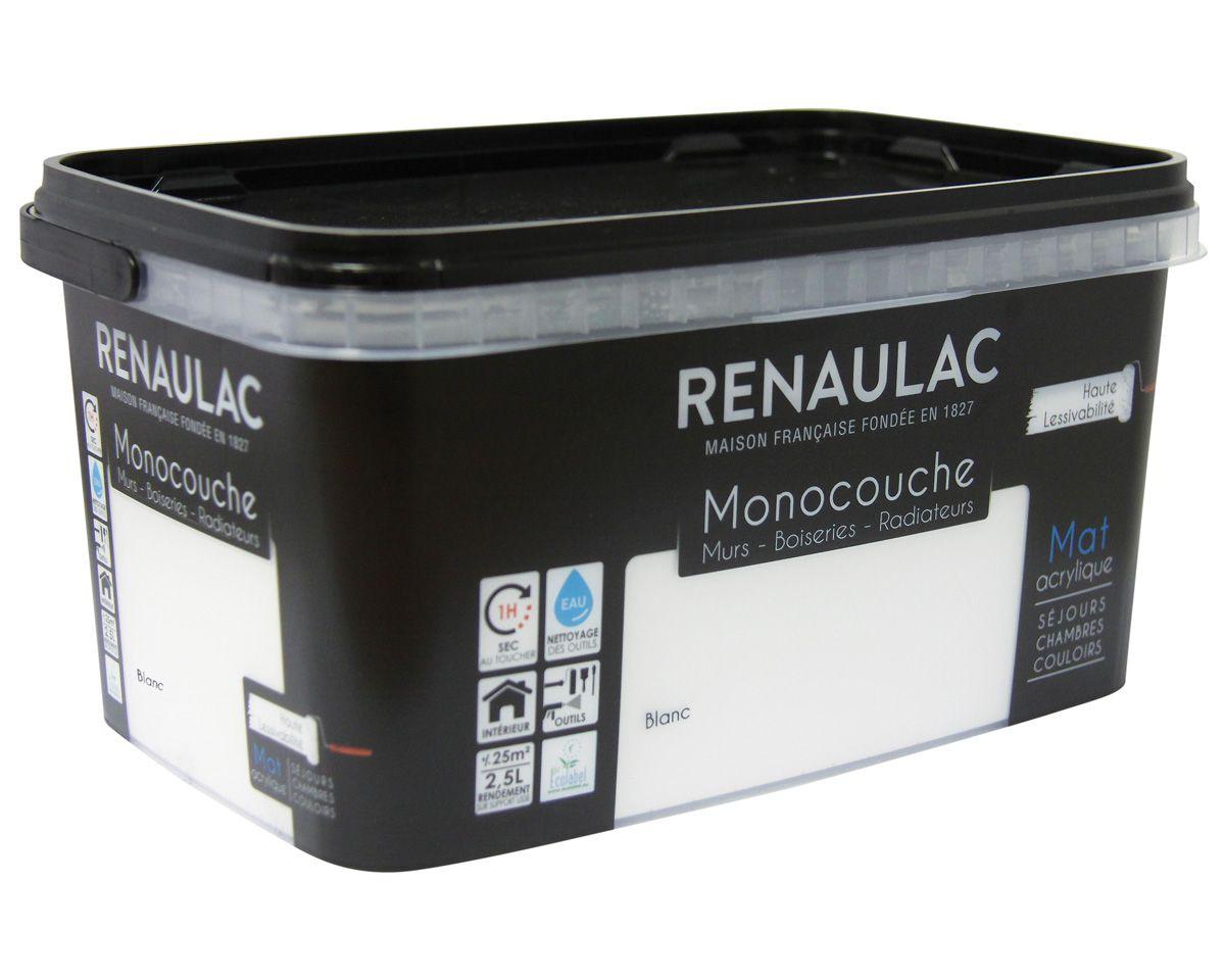 Peinture blanc mat monocouche Renaulac 2.5l