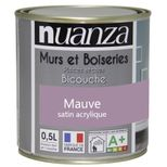 Peinture Nuanza satin mauve 0.5l