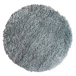 Tapis rond shaggy gris acier Softy 60 cm