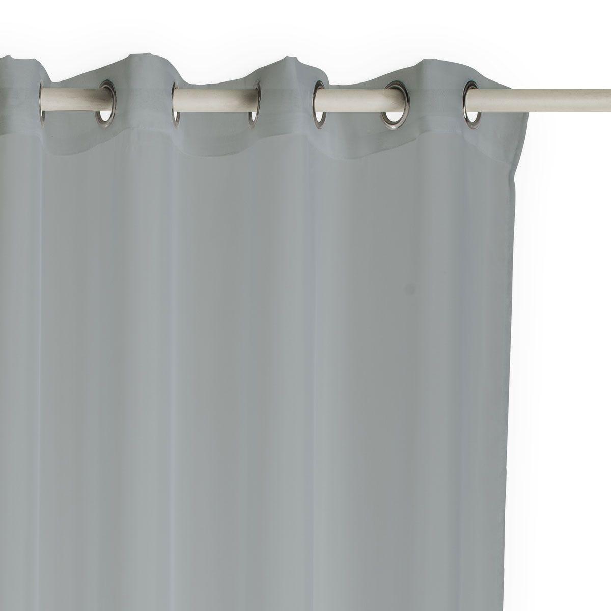 Voilage uni gris souris Cali 135x240 cm