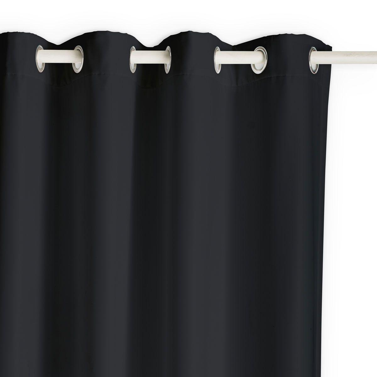 Rideau occultant Isolant buga noir 140x240cm