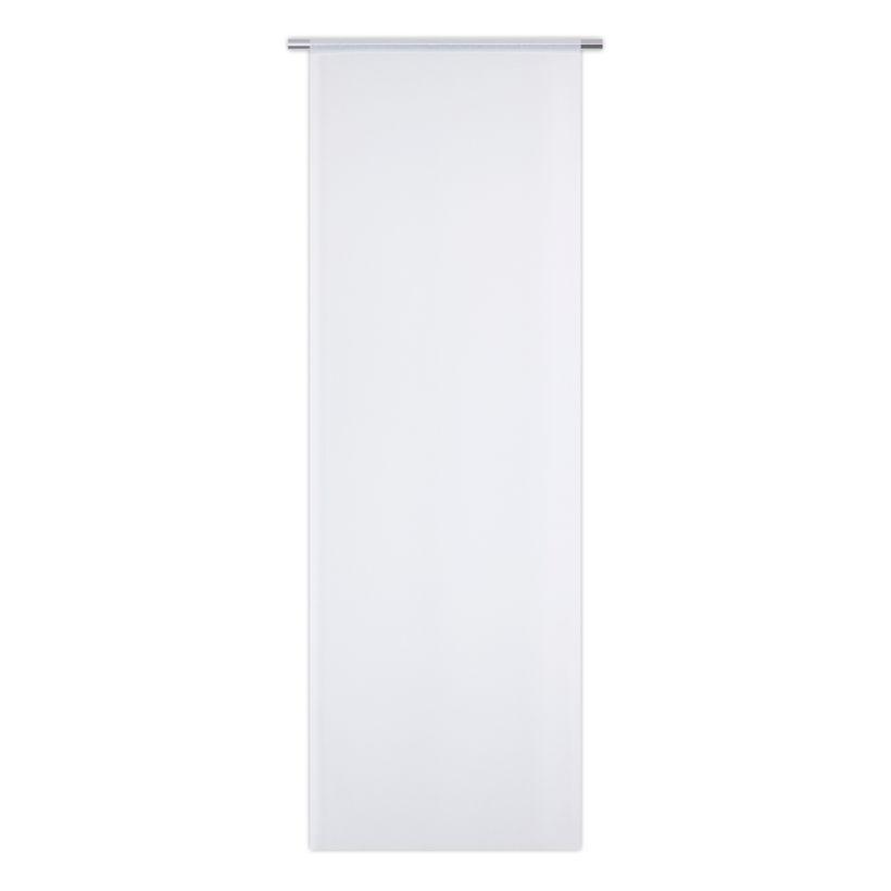 Vitrage grande hauteur droit blanc Tepic 70x200 cm
