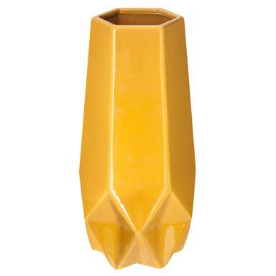 objet d co vase gris jaune magasin de d co kalico. Black Bedroom Furniture Sets. Home Design Ideas