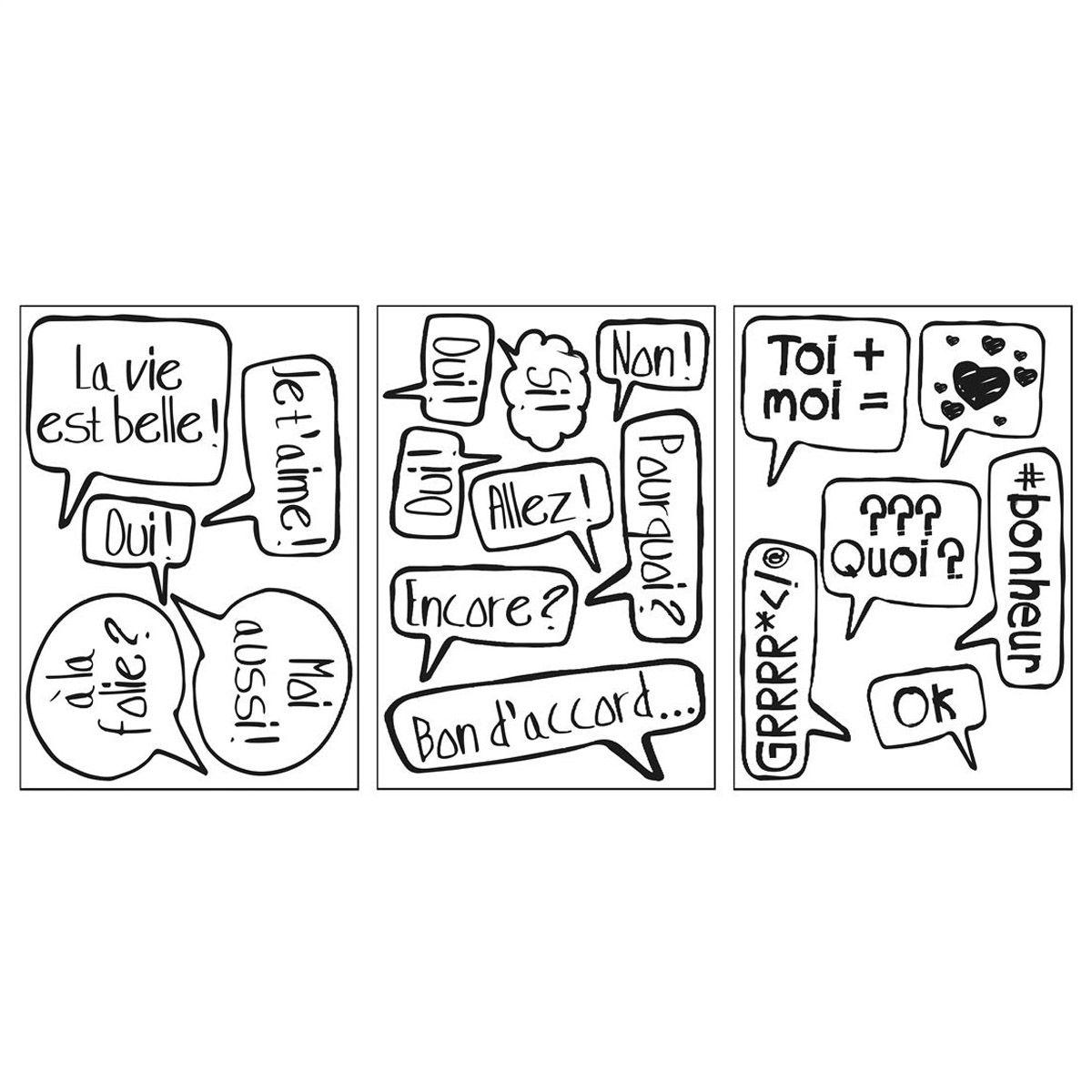 Sticker motif bulles