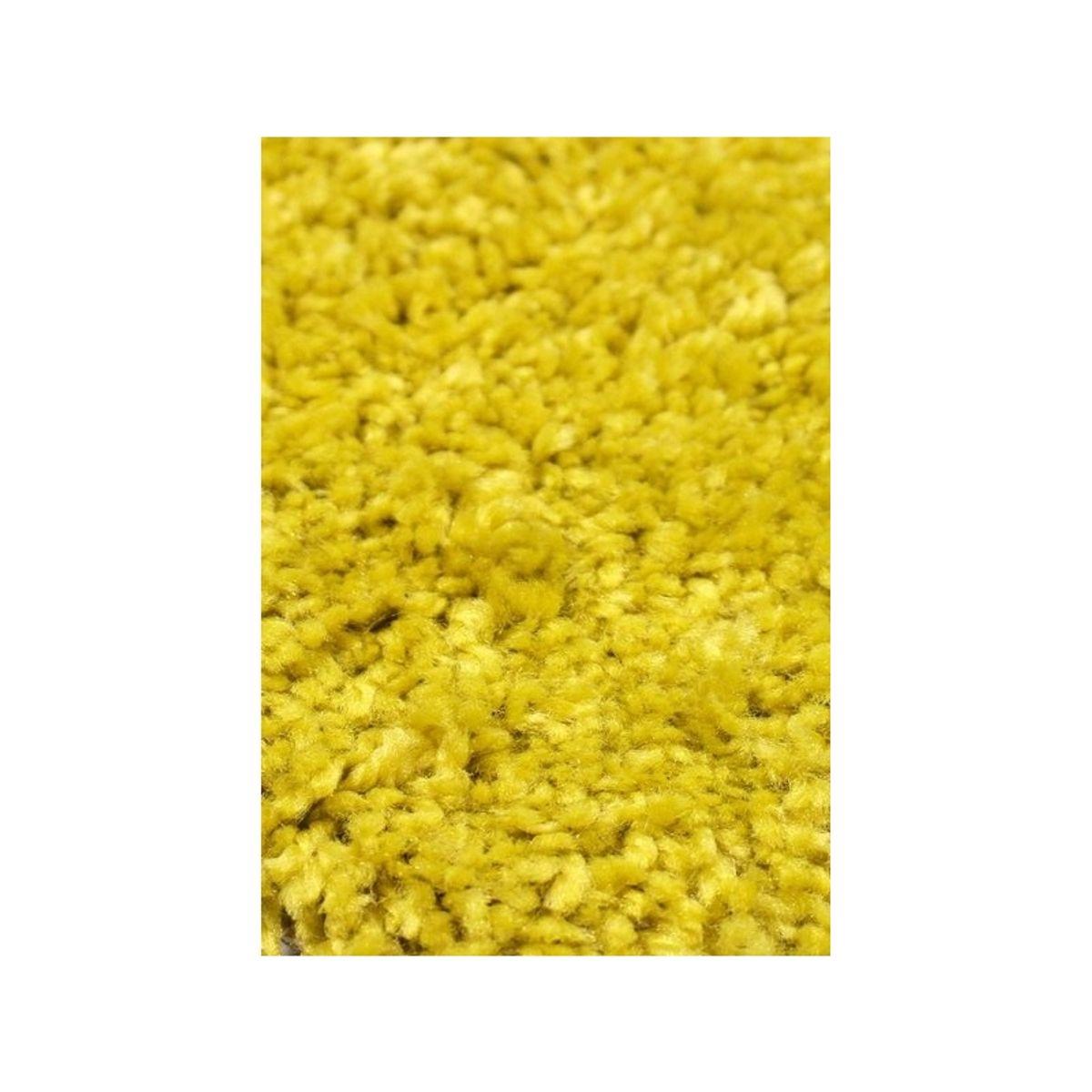 Tapis shaggy jaune moutarde Softy 60x110 cm