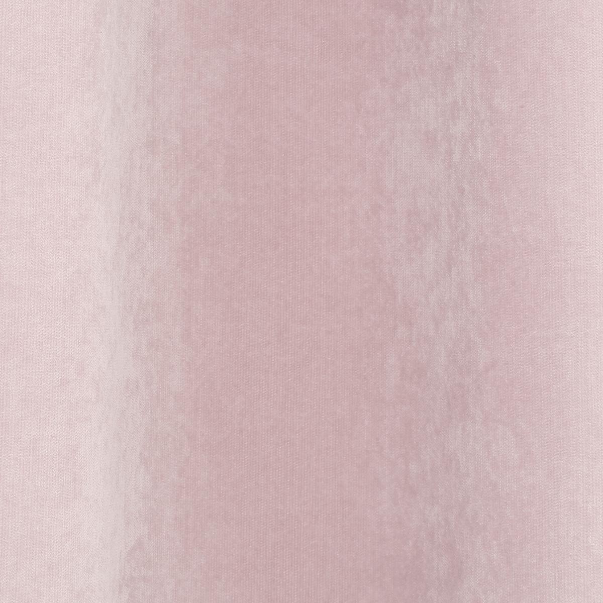 Rideau velours rose Hijua 140x260 cm