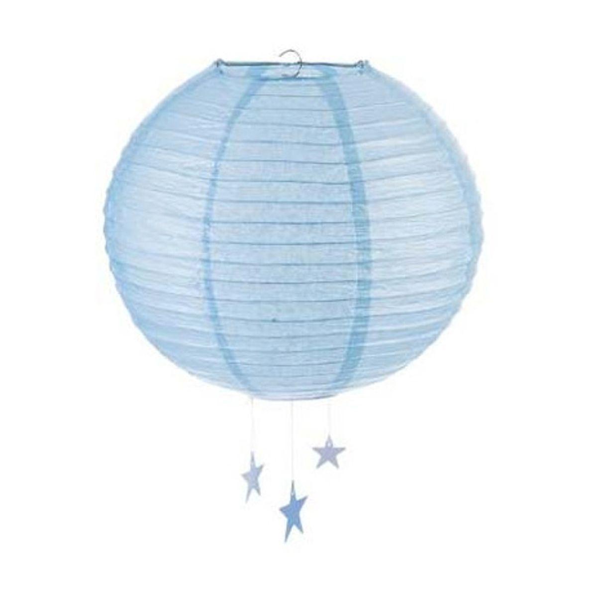Lanterne boule etoile bleu