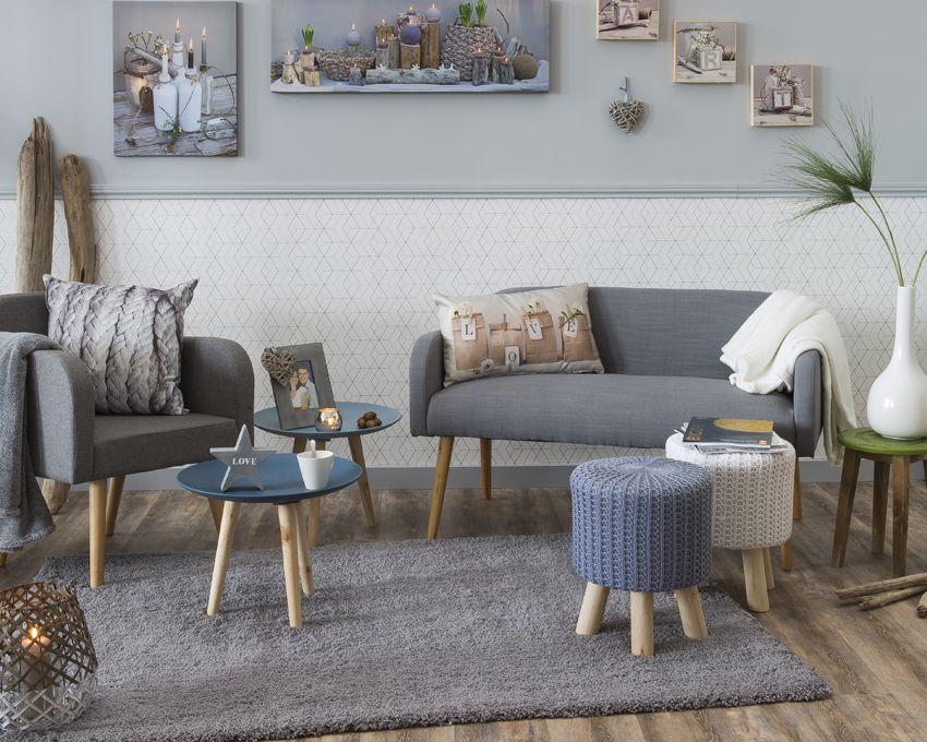 Décoration scandinave - Salon épuré et douillet | KALICO