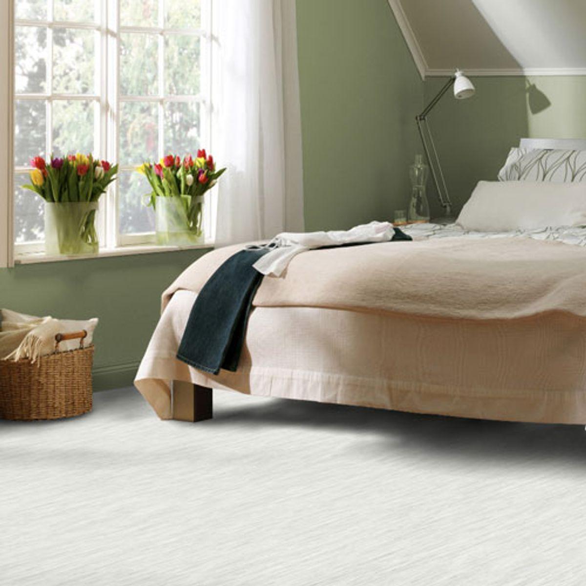 Sol PVC blanc ligné Verone 200cm