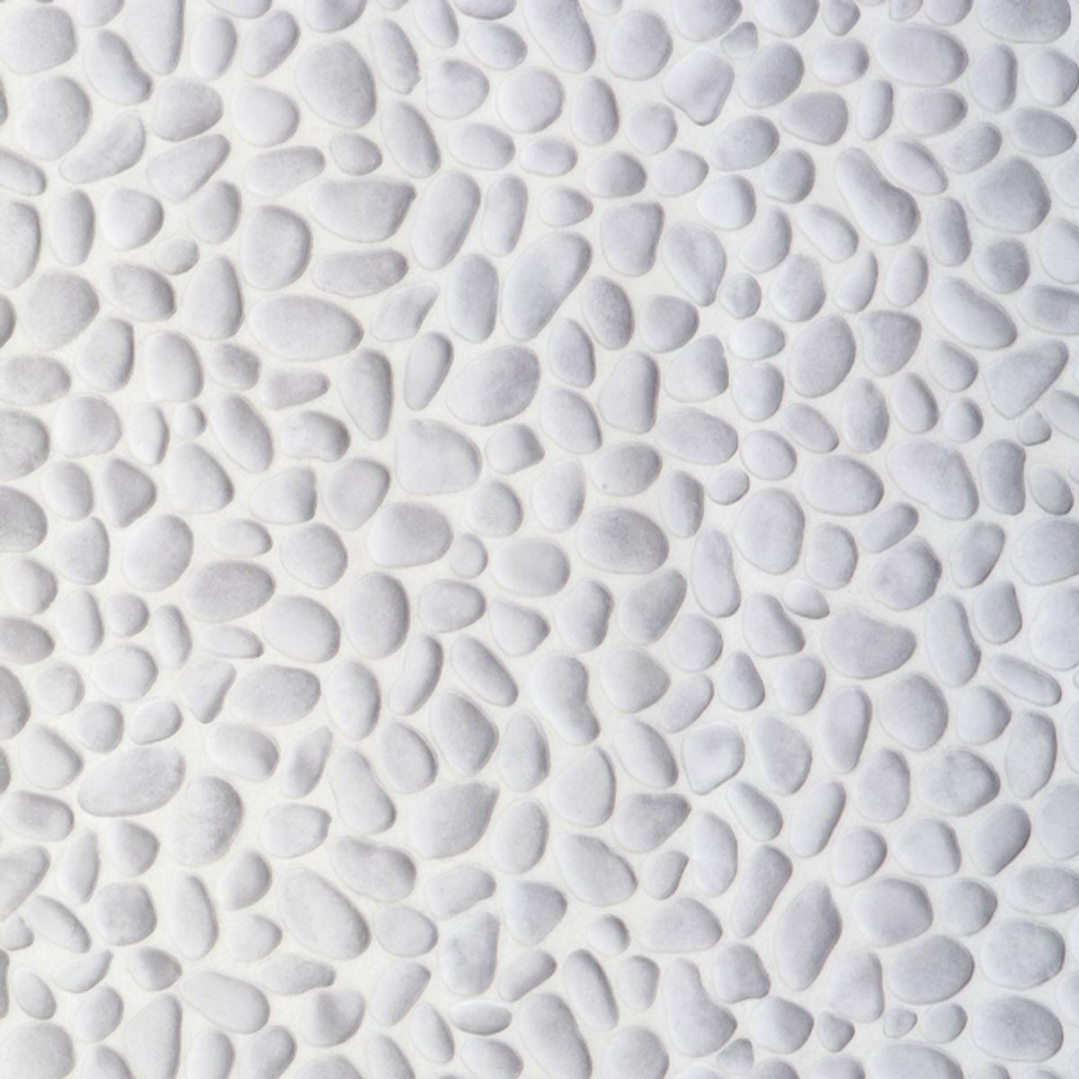 Sol vinyle Verone galet blanc 200cm