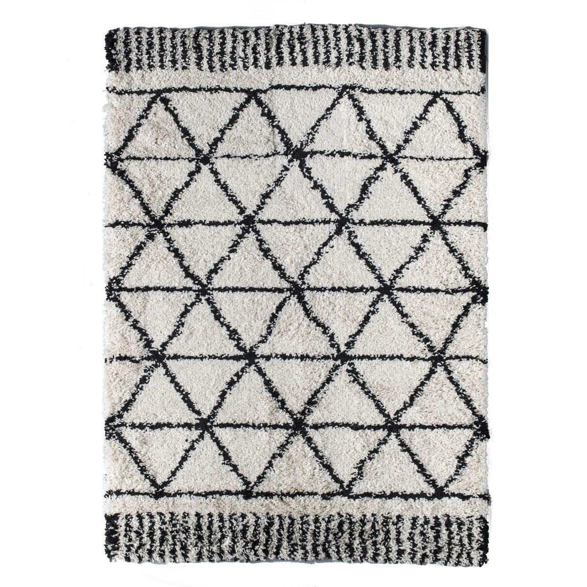 Tapis motif berbère blanc Makalu 120x170 cm