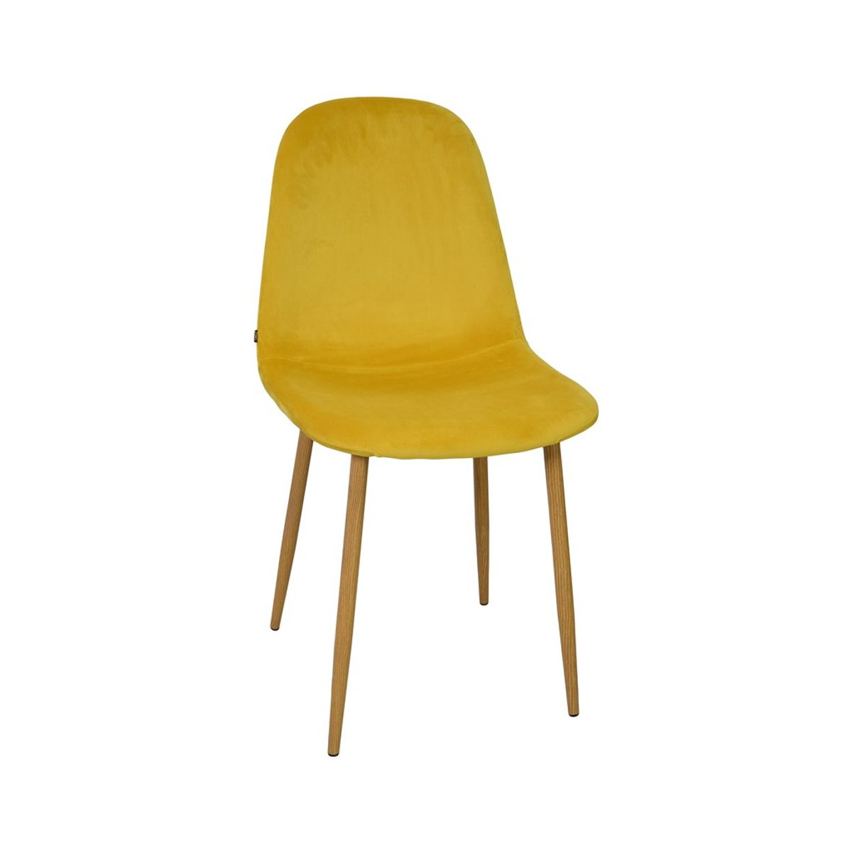 Chaise velours jaune moutarde Stockholm