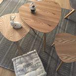 Lot de 3 tables bois