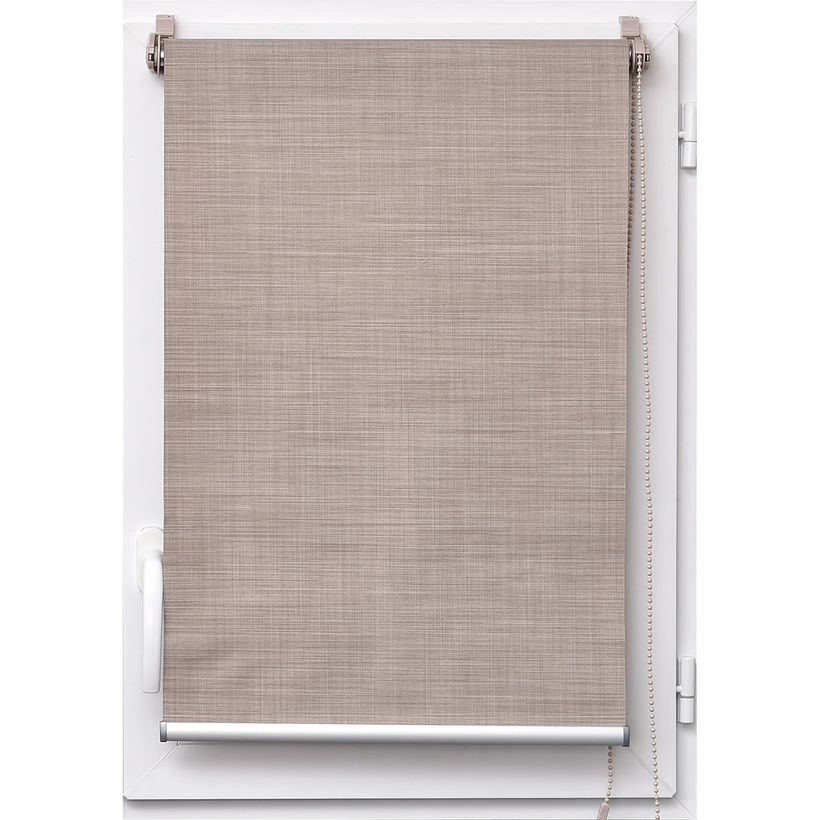 Store tamisant effet lin taupe Tao 45x180cm