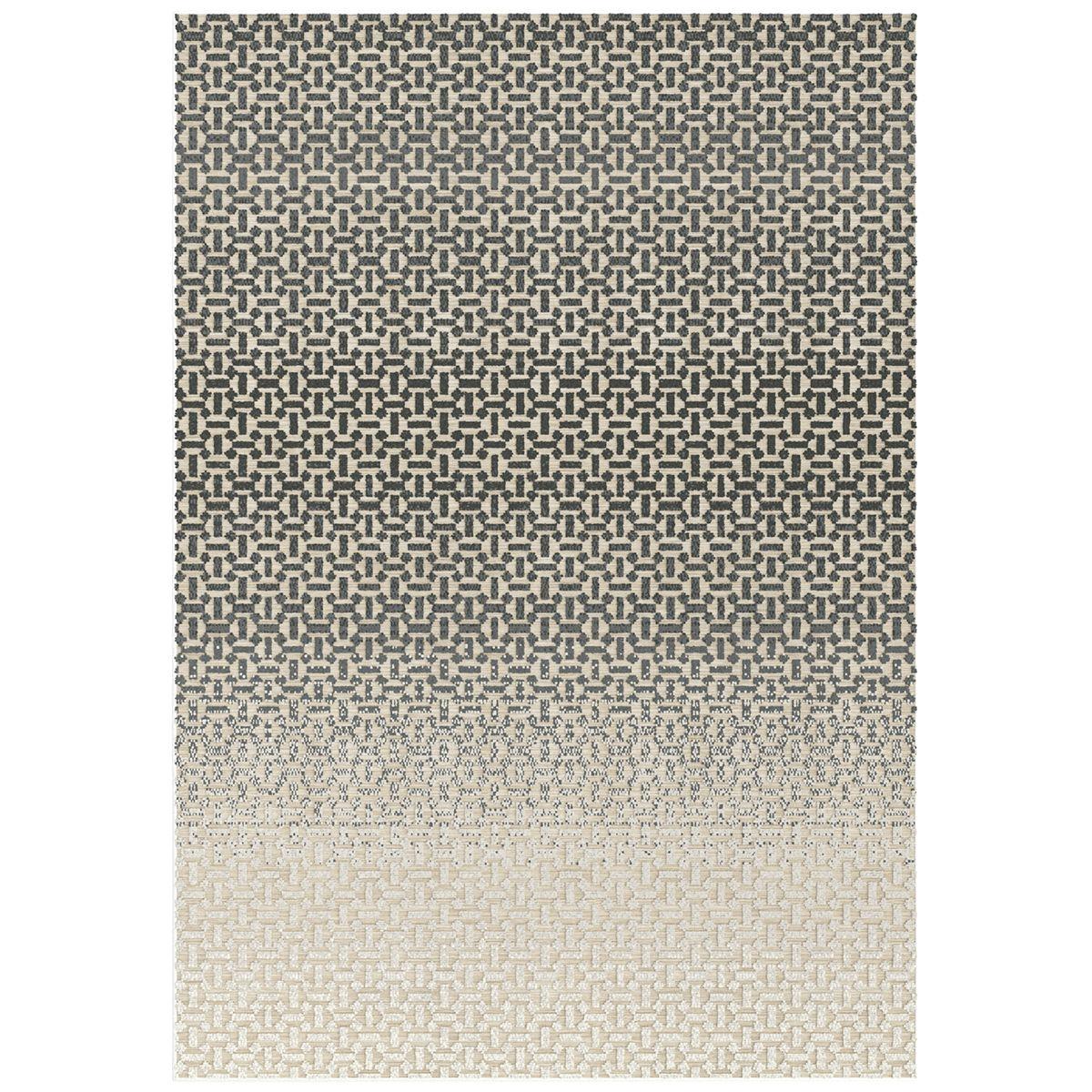 Tapis relief effet tie&dye taupe Nuptso 160x230 cm