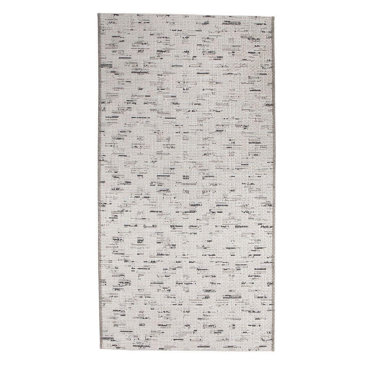 Tapis losanges gris blanc Ngadi 80x150 cm