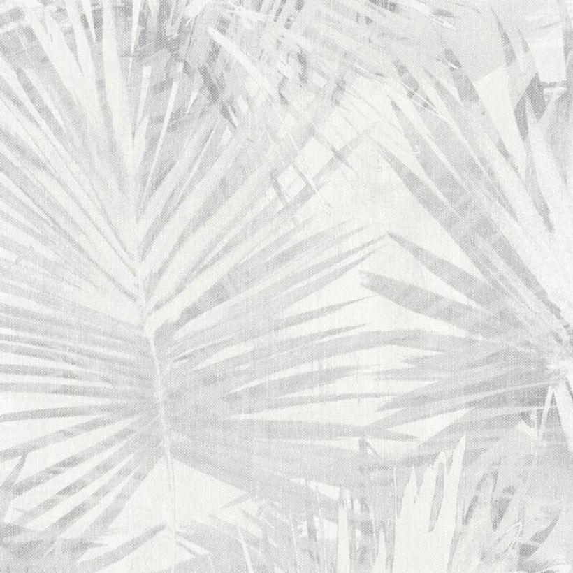 Papier peint vinyl intissé palme gris Pandy